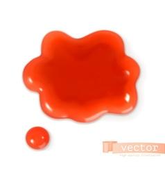 Red sweet drop vector