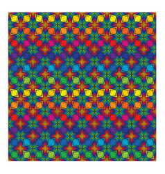 rhombus shape colorful pattern seamless vector image vector image