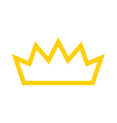 royal crown icon vector image vector image