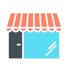 shop silhouette icon store minimal pictogram vector image