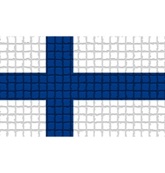 The mosaic flag of finland vector