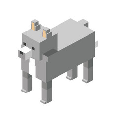 Wolf modular animal plastic lego toy blocks and vector