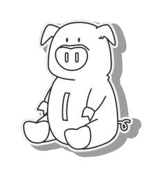 money piggy pig moneybox icon graphic vector image