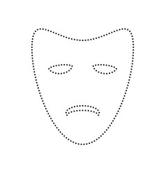 Tragedy theatrical masks  black dotted vector