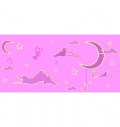 pink dream of a dog vector image