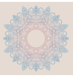Ornamental round lace in ethnic style vector image