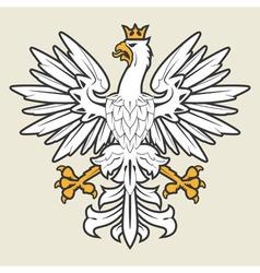 Heraldic eagle19 vector image