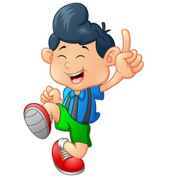 Happy boy cartoon vector