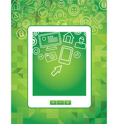 Tablet pc concept vector