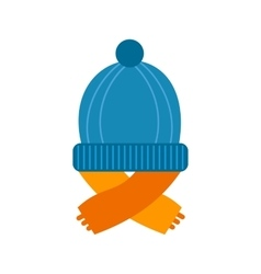 Warm cap and scarf vector