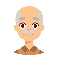 Sadness grandpa face vector