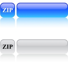 Zip square button vector