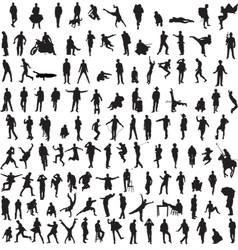 Collection silhouettes of men vector