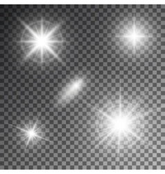 Abstract flare light rays vector