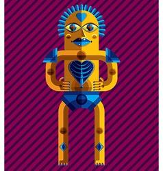 Avant-garde of mythic person pagan symbol vector