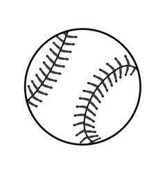 Baseball ball sign black vector image vector image