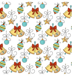 christmas seamless pattern vector image vector image