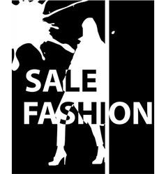 Fashion girl poster vector image vector image