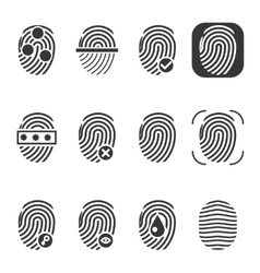 Fingerprint icons vector image