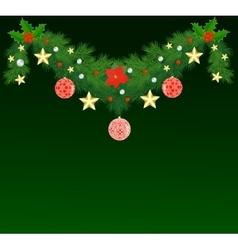 Fir Christmas garland vector image