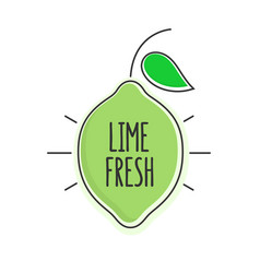 Flat style minimal trendy lime bubble price tag vector