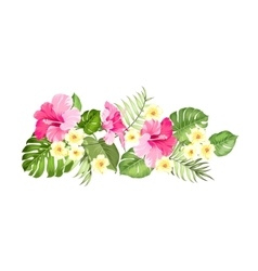 Floral garland card vector