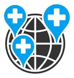 Global clinic company icon vector