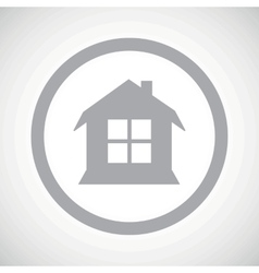 Grey house sign icon vector image