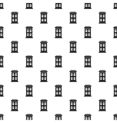 House with large windows pattern simple style vector