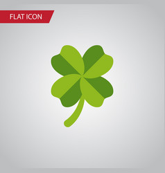 Isolated leaf flat icon leafage element vector