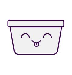 Laundry basket kawaii character vector