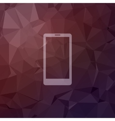 Mobile phone in flat style icon vector