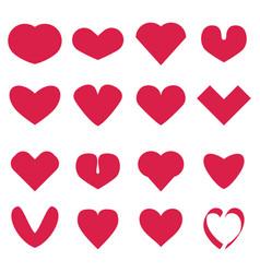 Pink hearts set vector