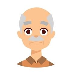 Sadness grandpa face vector