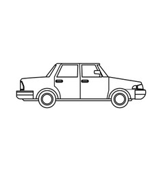 Sedan car vehicle transport image outline vector