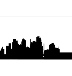 Silhouette of home town vector