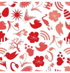Spring icons seamless pattern eps10 vector