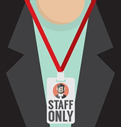 Staff Only Lanyard vector image