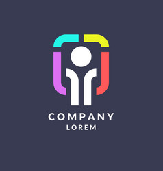 trendy logo for the company business vector image vector image