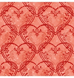 Valentine heart seamless vector image