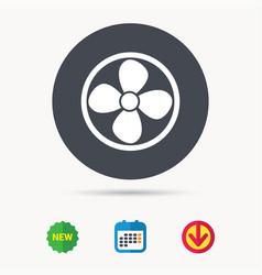 Ventilation icon air ventilator or fan sign vector