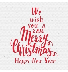 We wish you a merry christmas lettering vector