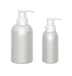 white bottles with dispenser vector image