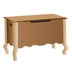 wooden storage cabinet vector image vector image