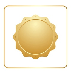 Seal award gold icon vector