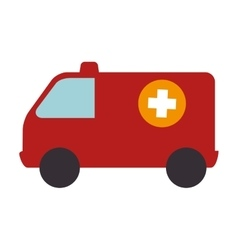 Ambulance emergency vehicle icon vector