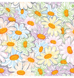 Flower camomile seamless pattern vector
