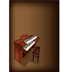 A retro pipe organ on dark brown background vector