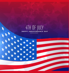4th of july wavy flag background vector