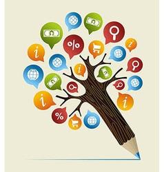 Research studies concept pencil tree vector